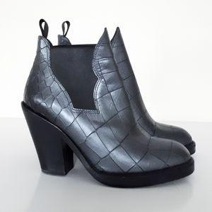 Acne Studios Star Croc Ankle Boots Size 36 EU 6 US